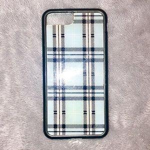 Wildflower Plaid Blue Phone Case iPhone 7 8 Plus